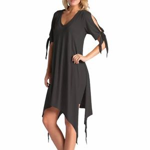 LAMade Cecilia Cold Shoulder Double Layer Dress